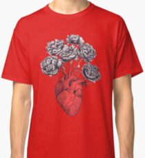 Heart with peonies Classic T-Shirt
