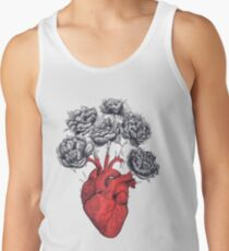 Heart with peonies Tank Top