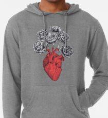 Heart with peonies Lightweight Hoodie