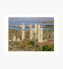 Ruins of Delos Art Print