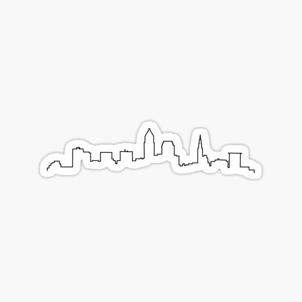 Cleveland, OH City Skyline Sticker