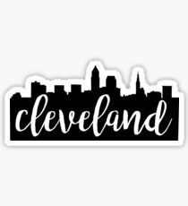 Cleveland, Ohio City Skyline Sticker