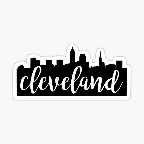 Cleveland, Ohio City Skyline Sticker