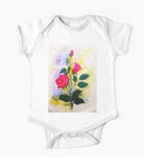 Watercolor Red Poppy Flowers Kids Clothes