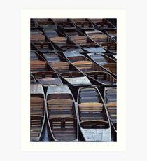 Punts in Oxford Art Print
