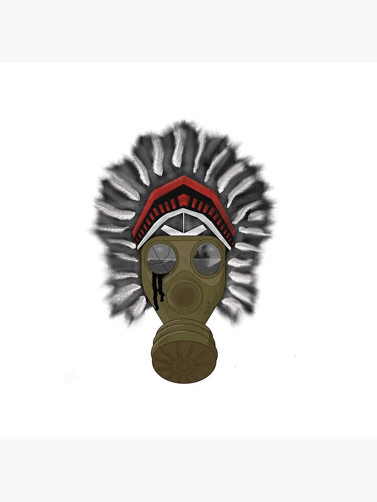 Camiseta Toxic Native American Gasmask de welovetees