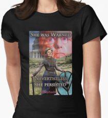 She Was Warned - Elizabeth Warren Womens Fitted T-Shirt