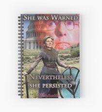 She Was Warned - Elizabeth Warren Spiral Notebook