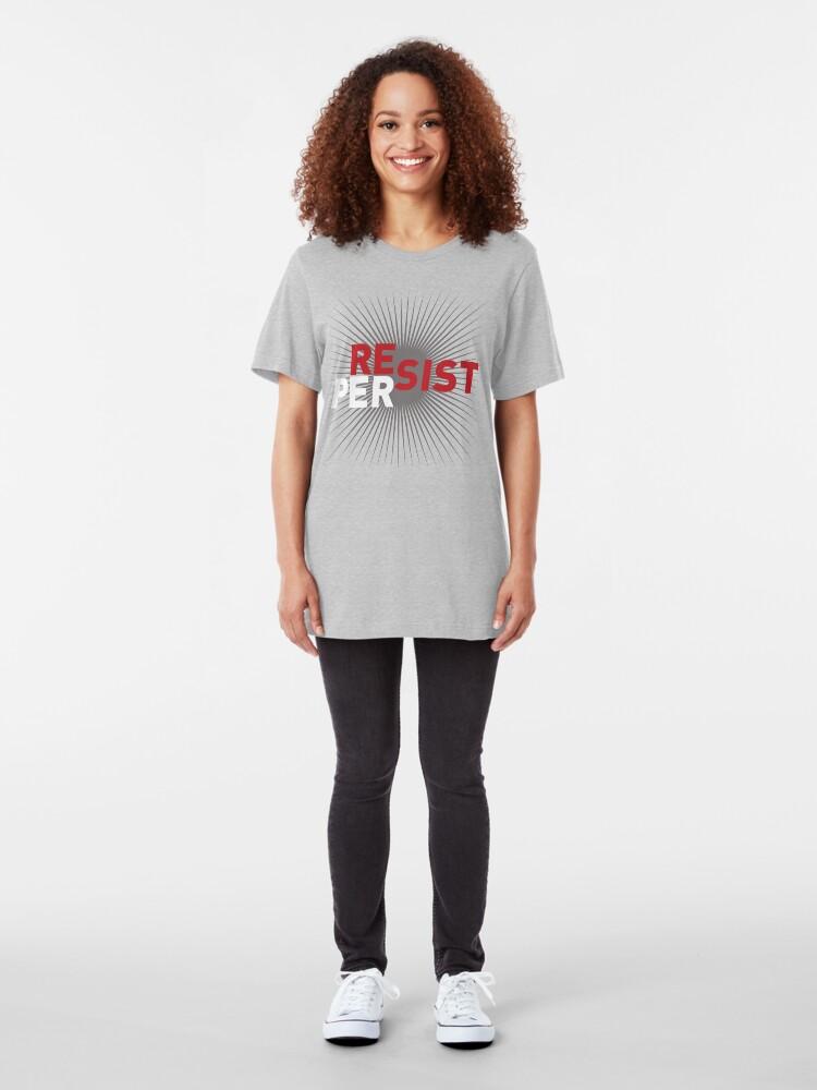 Alternate view of RESIST: PERSIST Slim Fit T-Shirt