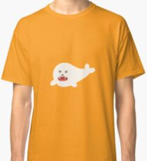 White happy Seal Classic T-Shirt