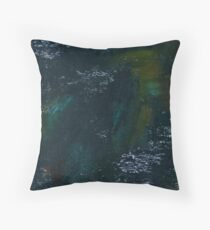 Blue and Green Oil Abstract Throw Pillow
