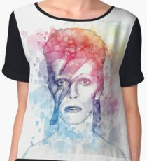 Bowie painting Women's Chiffon Top