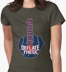 Deflate These - 5 Rings Middle Finger Fist Womens Fitted T-Shirt