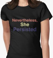 She persisted Women's Fitted T-Shirt