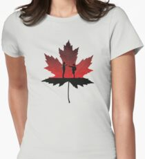 Maple Leaf Women's Fitted T-Shirt
