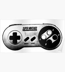 Faded Snes Controller Poster