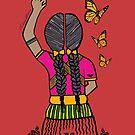 Resistir es Sobrevivir (Color RED) by MF  XicanaArt