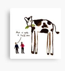 Tall Cow Canvas Print