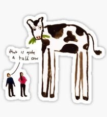 Tall Cow Sticker