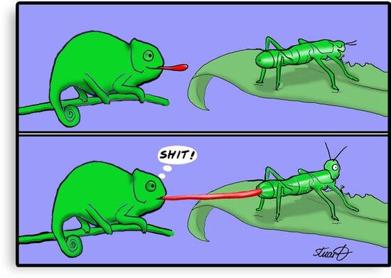 Chameleon Cartoon by David Stuart