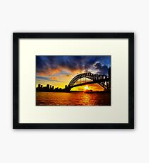 Sydney Harbour Bridge Sunset Framed Print