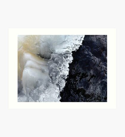 8.2.2017: Natural Ice and Wet Stone Art Print