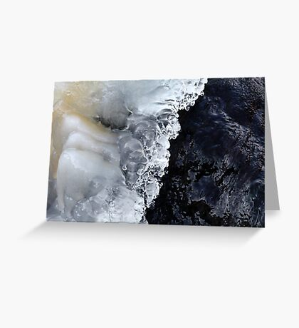 8.2.2017: Natural Ice and Wet Stone Greeting Card