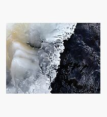 8.2.2017: Natural Ice and Wet Stone Photographic Print