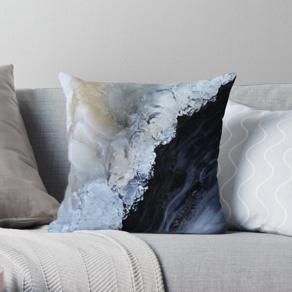 8.2.2017:  Natural Ice and Flowing Water Throw Pillow