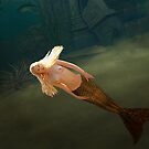 Blonde Mermaid at Temple by Tray Mead