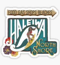 Hale'iwa North Shore Sign - WOMAN Sticker