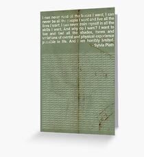 Sylvia Plath Greeting Card