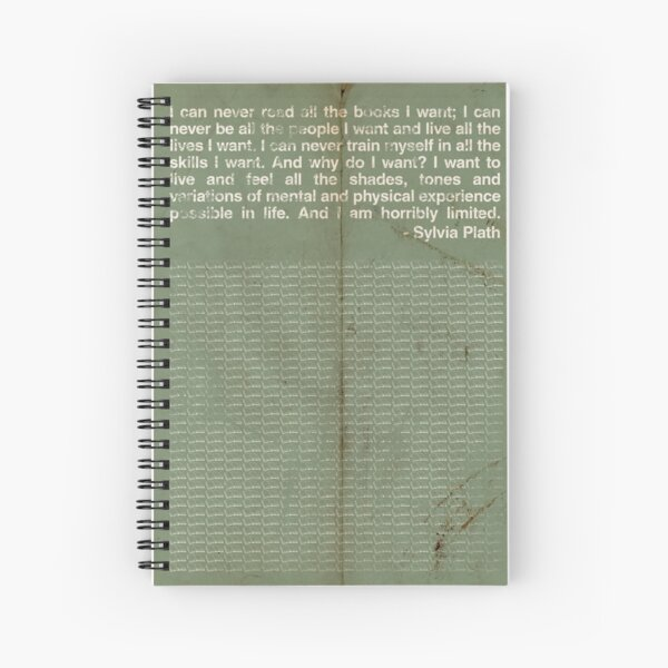 Sylvia Plath Spiral Notebook