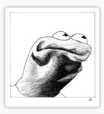 Kermit's Angry Face Sticker