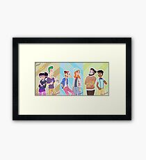 Phineas and Ferb - Hipster Gang Framed Print