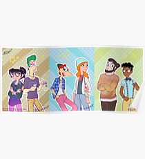 Phineas and Ferb - Hipster Gang Poster