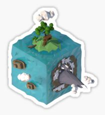 Cube island Sticker