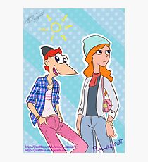 Phineas and Candace, hipsters! Photographic Print