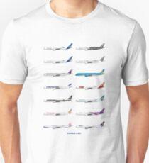 Airbus A350 Operators Illustration Unisex T-Shirt