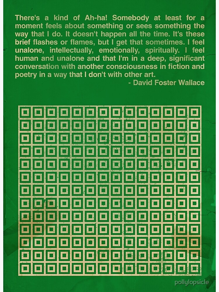 David Foster Wallace by pollylopsicle