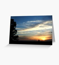 Sunset over Bismarck Greeting Card
