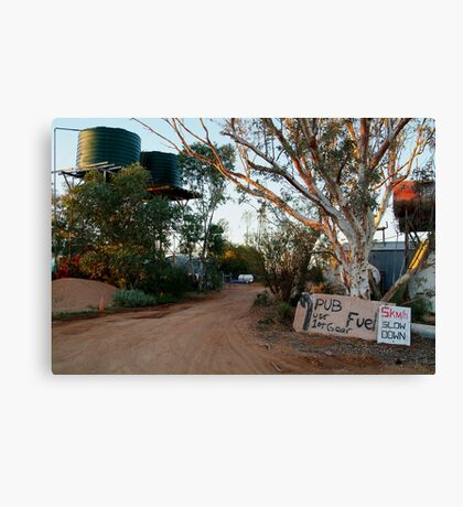 Front Gate, Mt Dare Station,Outback South Australia. Canvas Print