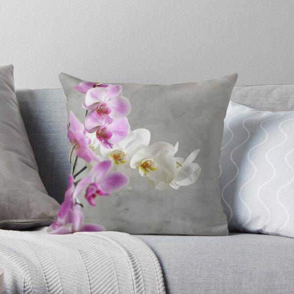 Beautiful orchids Throw Pillow