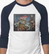 Camiseta ¾ bicolor para hombre Perros jugando D & D