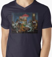 Dogs Playing D&D Men's V-Neck T-Shirt