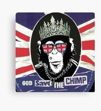 God Save The CoolChimp Canvas Print