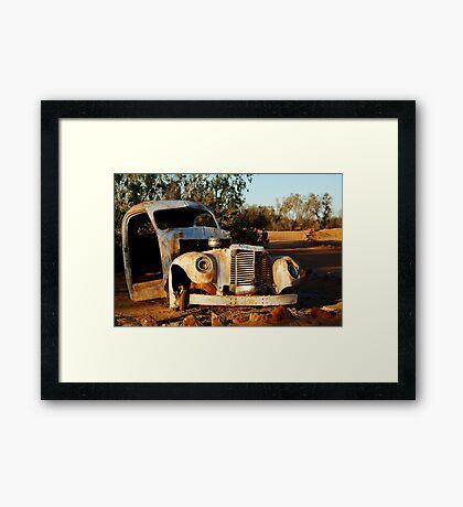 Truck Skeleton, Mt Dare Station Outback S.A. Framed Print