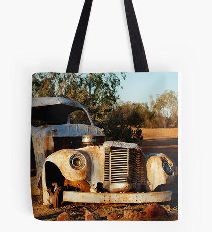 Truck Skeleton, Mt Dare Station Outback S.A. Tote Bag