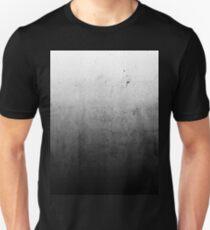 Black Ombre on Concrete Texture Unisex T-Shirt