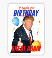 Birthday Trump Sticker